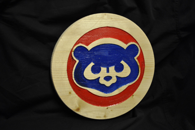 Chicago Cubs Front Face Bear House Of Carve